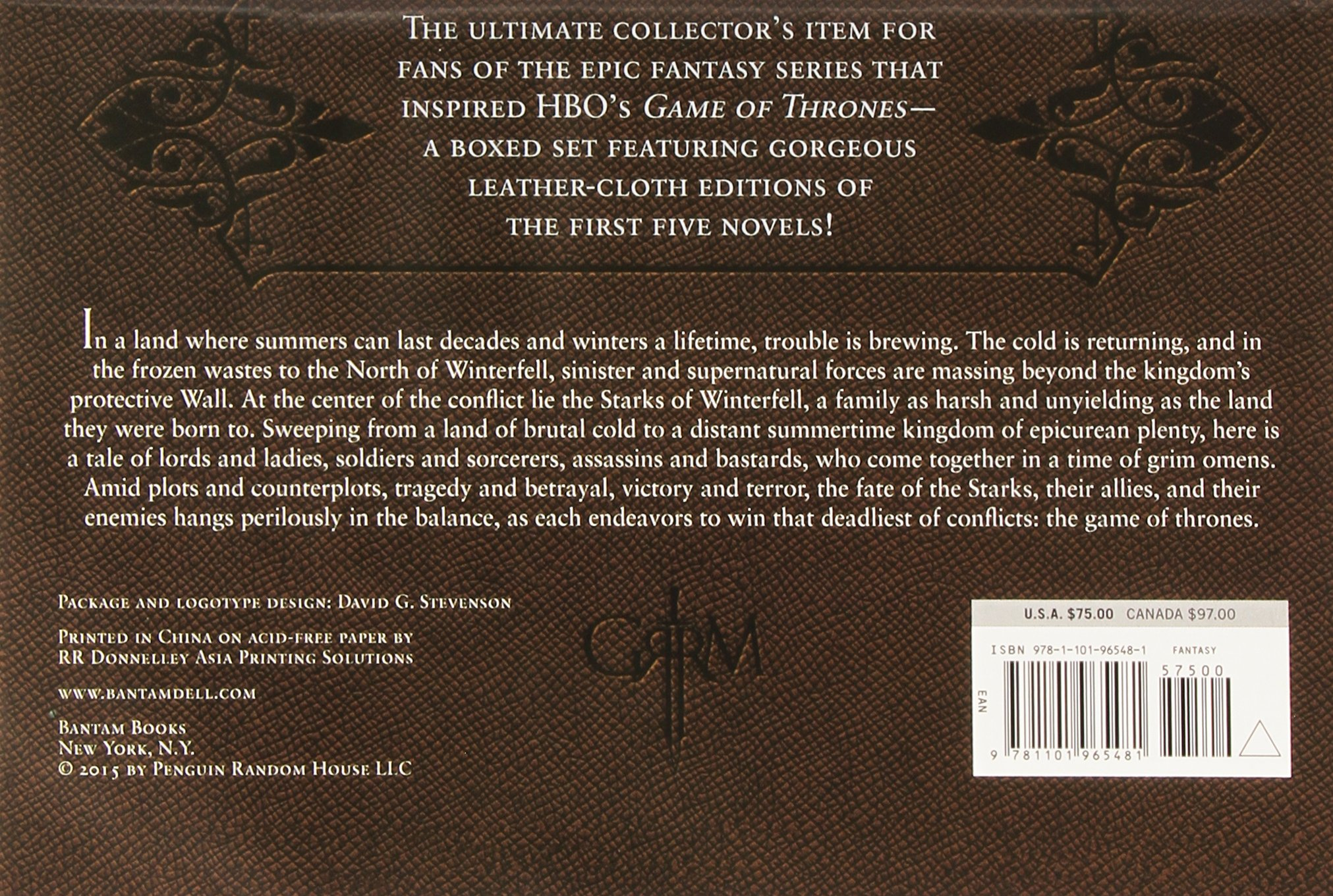 Back of Box for GOT Book Gift